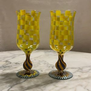Authentic McKenzie Childs water goblets